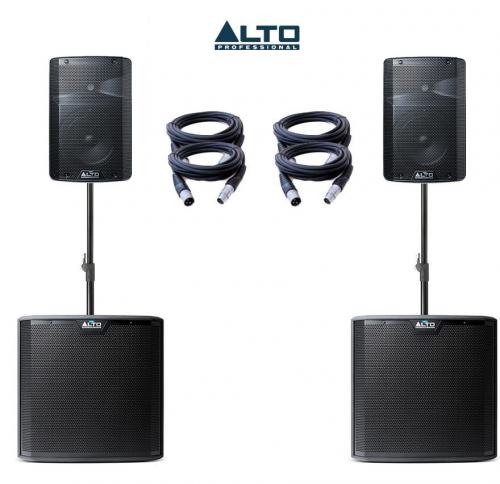 Alto Truesonic TX208 & TS212S Power Pack 2 - 3100W Active Sound System