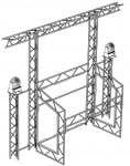 Opti CS150 Goalpost Overhead Kit & Podiums TR100B