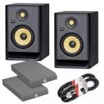 KRK Rokit RP7 G4 Bundle with Isolation Pads & Cables