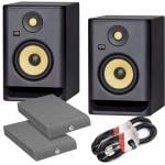 KRK Rokit RP8 G4 Bundle with Isolation Pads & Cables