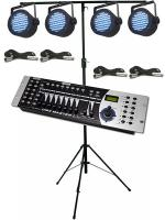 LEDJ Colour Burst Par36 DMX Lighting Kit