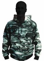 Technics Urban Camo Zip-Up Hoodie