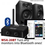 IMG Stageline WSA-20BT Bluetooth Audio Receiver