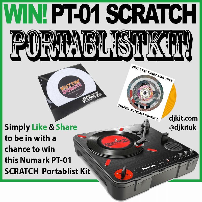 Win Numark PT-01 SCRATCH Portablist Kit!